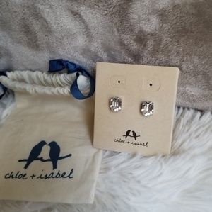 Chloe and isabel earrings large stud clear